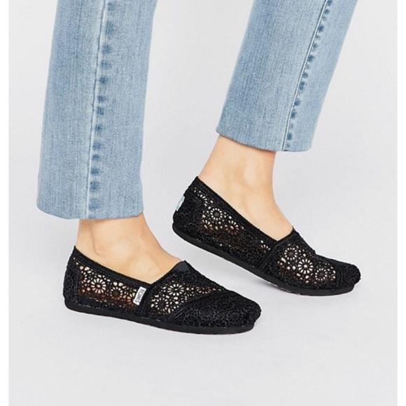 Toms Shoes   Toms Black Crochet Shoes